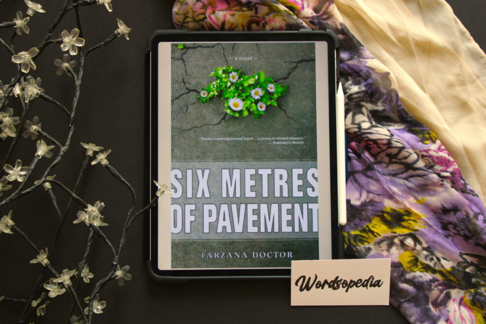 Book cover six metres of pavement